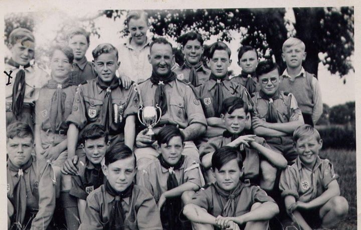 St. Asaph Scouts, 1947, proudly wearing their Flintshire badges.