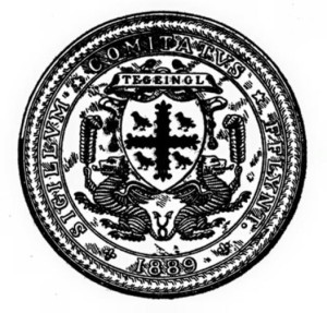 The seal of the old Flintshire County Council
