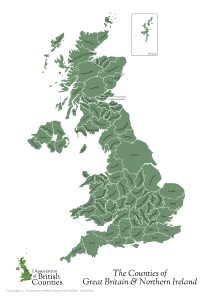 UK Counties Map (green)