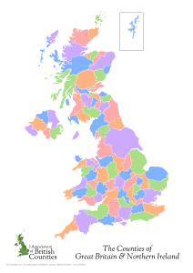 UK Counties Map (blank)