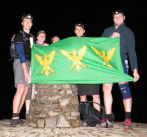 The Caernarfonshire Flag on the Summit of Mount Snowdon