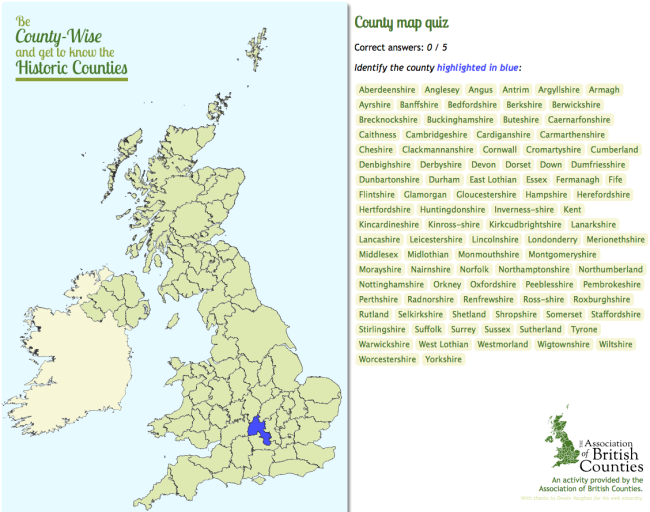 Try your luck at the UK County Map Quiz – Map Uk Uk Counties