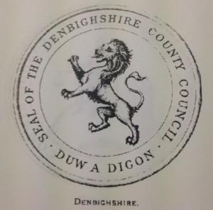 Denbighshire black lion rampant seal