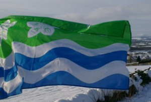 Photograph of Cumberland Flag flying at Beacon Edge - Credit: Philip Tibbetts
