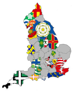 England County Flag Registrations as of February 2013 - Credit: Association of British Counties