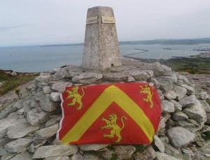 Anglesey Flag on Anglesey's Highest Point