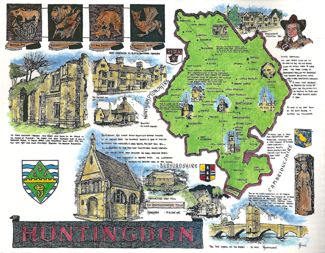 Huntingdonshire Map