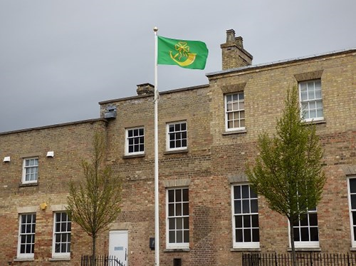 Huntingdonshire Flag at Pathfinder House